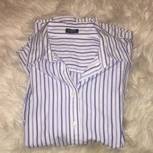 J Crew women's fitted button down shirt size m